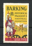 Reklamemarke Barking, Historical Pageant & Industrial Exhibition 1931, Ritter Mit Schwert Und Schild - Vignetten (Erinnophilie)