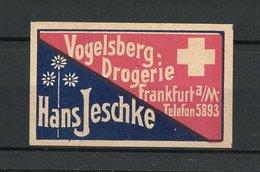 Reklamemarke Vogelsberg-Drogerie Hans Jeschke, Frankfurt / Main - Vignetten (Erinnophilie)