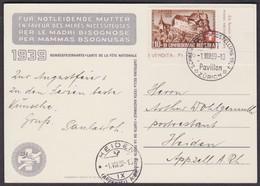 B2 / 1939 BUNDESFEIER KARTE NR 70  /  STEMPEL LANDESAUSTELLUNG 1.8.1939 - Covers & Documents