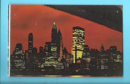 ETATS-UNIS---NEW-YORK---Night View Of Lower MANHATTAN--voir 2 Scans - Manhattan