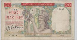 INDOCHINE   20  Piastres   Nd(1949) - Indochina