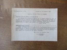 CAMBRAI LE 19 NOVEMBRE 1940 ORTSKOMMANDANTUR 1/534 CONCERNE:PRIX DU BETAIL ET DE LA VIANDE SIGNE SATTIG - Documents Historiques