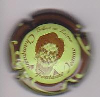 Capsule Champagne FONTAINE Philippe ( 2b ; JEANNE Vert-jaune Contour Marron ) {S13-20} - Champagne