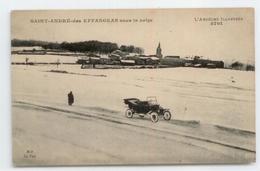 CPA 1920 ARDECHE SAINT ANDRE DES EFFANGEAS SOUS LA NEIGE VOITURE AUTOMOBILE BE - Frankreich