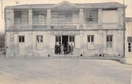 20-4091 : AIGREFEUILLE. HOTEL MODERNE CAFE DE LA PAIX. CARTE-PHOTO MARCEL SARRAZIN A FOURAS - Non Classés