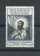 RUANDA  URUNDI   YVERT  176    MNH  ** - 1948-61: Nuovi