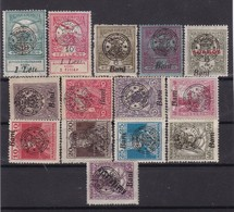 # Z.11304 Romania, Transylvania 1919 Occupation Hungarian Lot Of 14 Stamps Overprint Type II. MNH - Siebenbürgen (Transsylvanien)