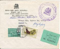 Ethiopia Registered Cover Sent To Denmark Addis Ababa 7-4-1970 - Äthiopien