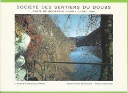 Société Des Sentiers Du Doubs - 1996 - Le Doubs à La Prise D'eau Du Refrain - Photographie