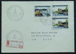 Entiers Postaux – Recommandé, FDC Namur 1977 Barrage De La Gileppe (Jalhay), Embouchure De L'Yser (Nieuwpoort) - Belgien