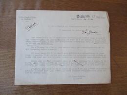 CAMBRAI LE 14.1.41 LE SOUS PREFET J.LANDEL ETAT DES CHANGEMENTS INTERVENUS DANS LA COMPOSITION DU BETAIL DE BOUCHERIE - Documents Historiques