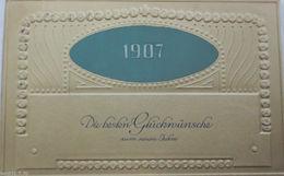 """Neujahr, Jahreszahl, Biedermeier"" 1906, Prägekarte  ♥ (4658) - Nieuwjaar"