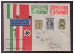 Dt-Reich (009378) Propaganda Schmuckumschlag Zum Besuch Des Führers In Italien Mit San Marino Marken Gestempelt 9.5.1938 - Briefe U. Dokumente