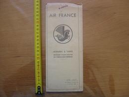 Publicite AIR FRANCE Horaires Et Tarifs ETE 1937 AVION PLANE - Aviation Commerciale