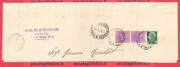 REGNO 241 - Parte Di Piego Grande, Viagg. Nel 1929 Da Pesaro A S.Leo - Marcofilía