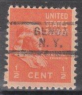 USA Precancel Vorausentwertung Preo, Locals New York, Geneva 729, Perf. Not Perfect - Vereinigte Staaten