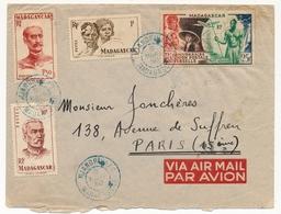 MADAGASCAR - Enveloppe Affr Composé - Mjandrivalo - 8 Mars 1950 - Brieven En Documenten