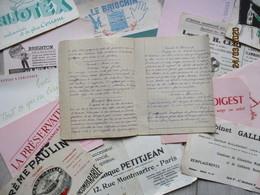 Lot De Buvards Et 1 Cahier Très Fatigués Année 1947 - Buvards, Protège-cahiers Illustrés