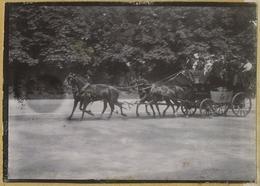 Tirage Circa 1900. Omnibus à Chevaux. Transport. Saint-Cloud. Jardin De L'Avenue Foch à Paris. - Photos