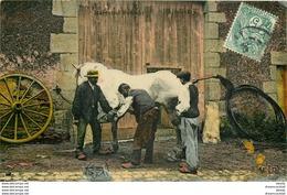 WW METIERS DE LA CAMPAGNE. Le Maréchal Ferrant Vers 1907. Carte Couleur Sur Papier Glace édition E-L-D - Artisanat