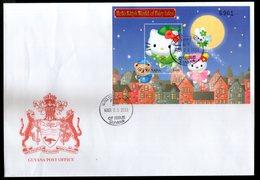 Guyana 2001 Hello Kitty Cartoon Fairy Tales Film Cinema M/s FDC # 15275 - Fairy Tales, Popular Stories & Legends