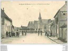 28 LE GAULT-SAINT-DENIS. Grande Rue Et Place 1914 (défaut)... - France