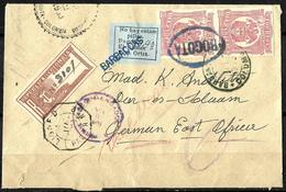 193 - COLOMBIA - 1903 - COVER TO EAST AFRICA - NICE FORGEY, FAUX, FAKE, FALSO, FA - Timbres