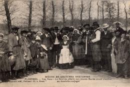 PLOERMEL - Moeurs Et Coutumes Bretonnes - Une Noce - La Beurrée Offerte Aux Jeunes Mariés - Ploërmel