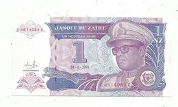Billet , Banque Du ZAIRE , Un,1 Nouveau Zaire , 24-6-1993 ,  Unc, 2 Scans - Zaire