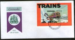 Grenada 2002 Trains Locomotive Railway Sc 3043 M/s FDC # 7084 - Trains