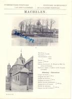 Oudheidkundige Inventaris Gemeente Machelen  - 1912  - Chanoine Hyusman - Alte Papiere