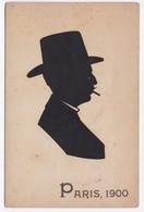 CP SILHOUETTE Ombre Chinoise Portrait Homme Paris 1900 Mr Jules .... De Belfort - Silhouettes