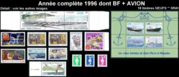 ST-PIERRE ET MIQUELON  - Année Complète 1996 + AVION - Yv. 624 à 640A Dont BF + PA 75 ** MNH  18 Tp  ..Réf.SPM11778 - St.Pierre & Miquelon