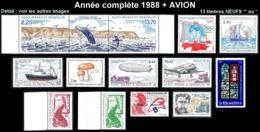 ST-PIERRE ET MIQUELON  - Année Complète 1988 + AVION - Yv. 486 à 496 Dont 489b + PA 66/67 NEUF   13 Tp  ..Réf.SPM11779 - St.Pierre & Miquelon