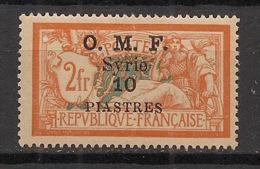 Syrie - 1920-22 - N°Yv. 66 - Merson 10pi Sur 2f Orange - Neuf * / MH VF - Siria (1919-1945)
