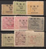 Syrie - 1921 - N°Yv. 74 à 82 - Série Complète - Neuf * / MH VF - Syrie (1919-1945)