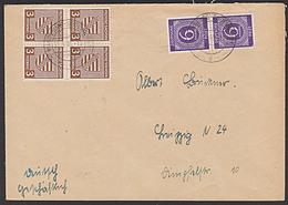 Provinz Sachsen Aus MAGDEBURG SUDENBURG In MiF Mit Ziffern Portogenau SBZ 74X (4) 3 Pf Wappen 31.5.46 - Zone Soviétique