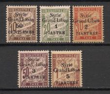 Syrie - 1923 - Taxe TT N°Yv. 17 à 21 - Série Complète - Neuf * / MH VF - Syrie (1919-1945)