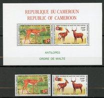 Cameroun, Yvert 841&842**+BF27**, Scott 863&864**+B40**, MNH - Cameroun (1960-...)