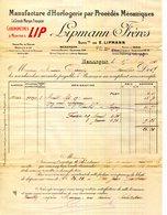 """25.DOUBS.BESANÇON.MANUFACTURE D'HORLOGERIE.CHRONOMETRES & MONTRES """" LIP """" LIPMANN FRERES.(P.J) - Zonder Classificatie"""