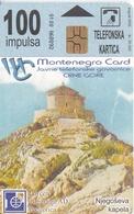 TARJETA DE MONTENEGRO DE 100 IMPULSA DE UNA CAPILLA - Montenegro