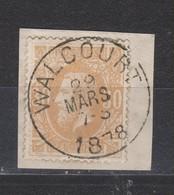 COB 33 Oblitération Centrale WALCOURT - 1869-1883 Leopold II.