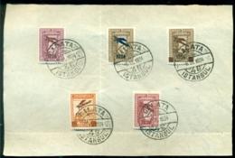 """Türkei 1934 Eröffnung Der Flugpostlinie Ankara-Istanbul Freimarken Mit Aufdruck """"Flugzeug"""" Serie Mi 980-984 - 1921-... Republic"""