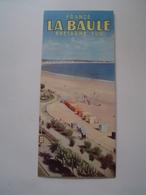 DEPLIANT TOURISME 1960 : LA BAULE / BRETAGNE SUD - Dépliants Touristiques