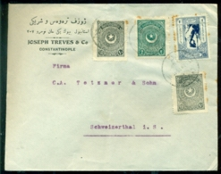 Türkei Rund 1925 Umschlag Von Konstantinopel Nach Schweizertal - Lettres & Documents