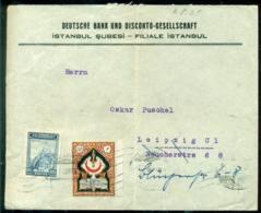Türkei Rund 1930 Umschlag Von Istanbul Nach Leipzig - 1921-... Republiek