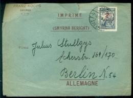 Türkei 1929 Umschlag Von Smyrna Nach Berlin - Lettres & Documents