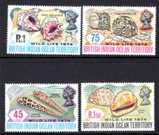 1968 - BRITISH INDIAN OCEAN TERRITORY - Mi  59/62 - NH -  (CW1822.38) - Francobolli