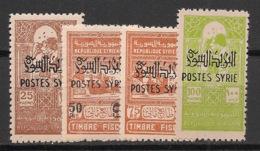 Syrie - 1945 - N°Yv. 284 à 287 - Série Complète - Neuf * / MH VF - Siria (1919-1945)