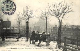 75 - Seine - Paris - Montmartre - La Bataille De Neige Sur La Butte Montmartre - D 7013 - Distretto: 18